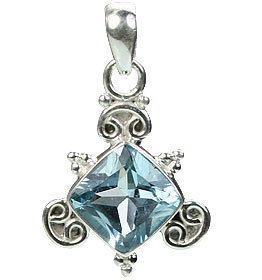 Design 15428: blue blue topaz pendants
