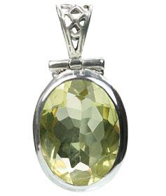 Design 15433: yellow lemon quartz pendants