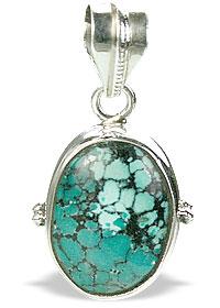Design 15504: green turquoise pendants