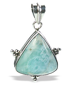 Design 15507: green larimar pendants