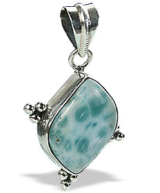 Design 15508: green larimar pendants