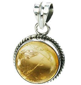 Design 15521: yellow citrine pendants