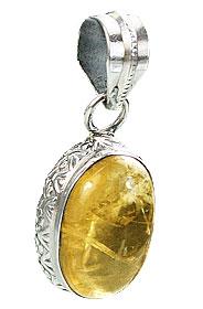 Design 15529: yellow citrine pendants