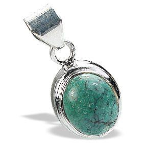 Design 15534: green turquoise pendants