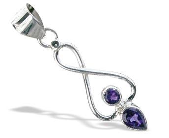 Design 15535: purple amethyst pendants