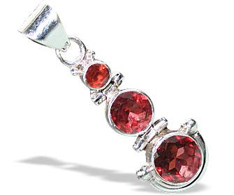 Design 15539: red garnet contemporary pendants