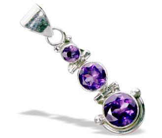 Design 15540: purple amethyst contemporary pendants