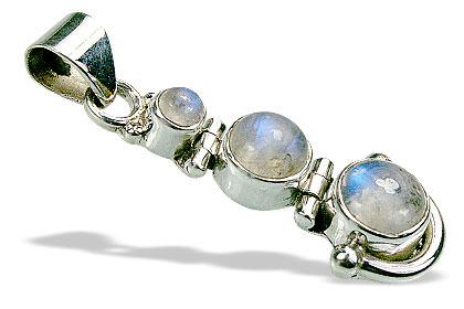 Design 15541: white moonstone pendants