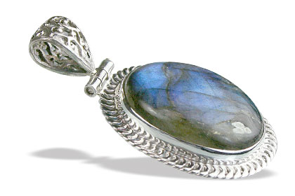 Design 15614: black,blue labradorite chunky pendants