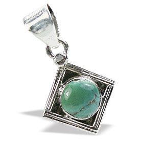 Design 15633: green turquoise mini pendants
