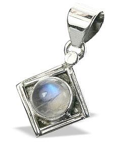Design 15634: white moonstone mini pendants