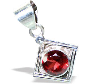 Design 15636: red garnet mini pendants