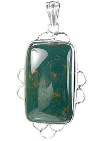 Design 15675: green bloodstone pendants
