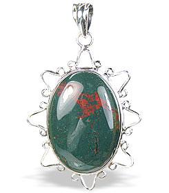 Design 15677: green bloodstone pendants