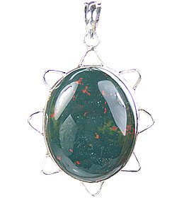 Design 15690: green bloodstone pendants