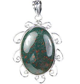 Design 15694: green bloodstone pendants