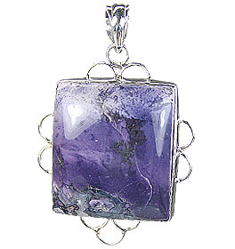 Design 15698: purple tiffany stone pendants
