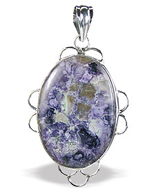Design 15700: purple tiffany stone pendants