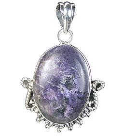 Design 15737: blue,gray tiffany stone pendants