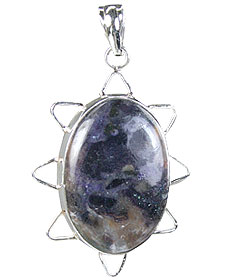 Design 15739: purple tiffany stone pendants