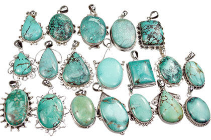 Design 16126: multi-color bulk lots pendants