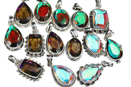 Design 16432: multi-color bulk lots pendants