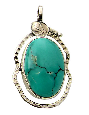Design 21179: blue turquoise pendants