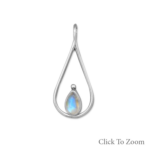 Design 22047: gray moonstone pendants