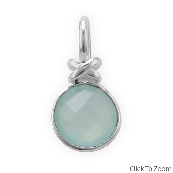 Design 22051: green chalcedony pendants