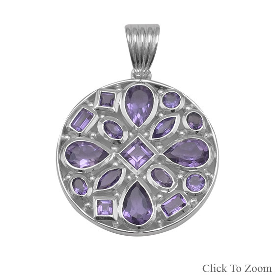 Design 22056: purple amethyst pendants
