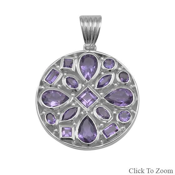 Design 22056: purple amethyst pendants