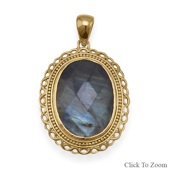 Design 22058: gray labradorite pendants