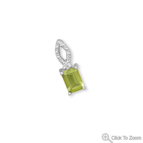 Design 22063: green peridot brides-maids pendants