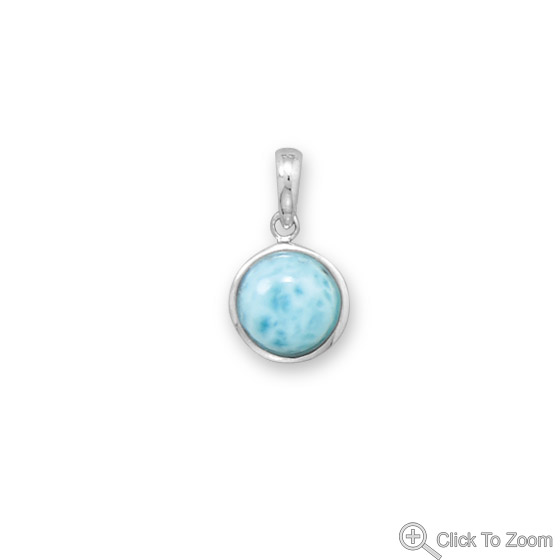 Design 22064: blue larimar art-deco pendants