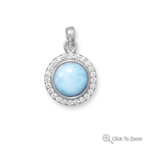 Design 22070: multi-color larimar brides-maids pendants