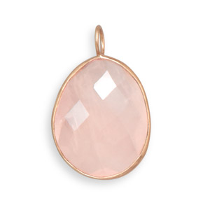 Design 22081: pink rose quartz pendants