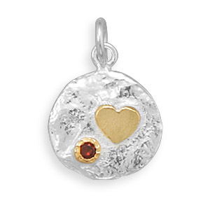 Design 22082: red cubic zirconia pendants
