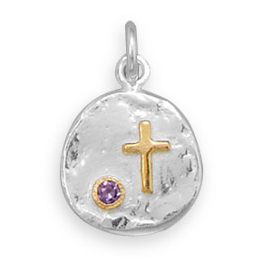 Design 22084: purple cubic zirconia pendants