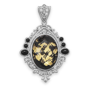 Design 22086: black onyx pendants