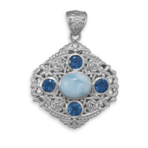 Design 22089: blue larimar pendants