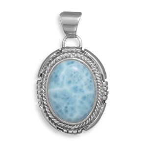 Design 22090: blue larimar pendants