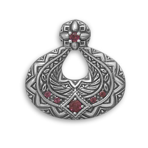 Design 22093: red garnet american-southwest pendants