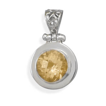 Design 22099: yellow citrine pendants