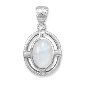 Design 22100: white moonstone pendants