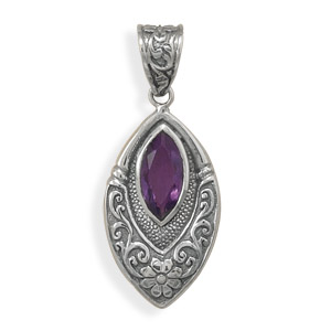 Design 22114: purple amethyst pendants