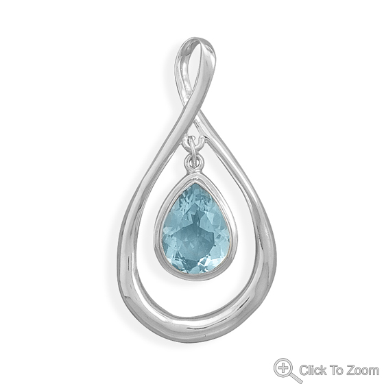 Design 22116: blue blue topaz pendants