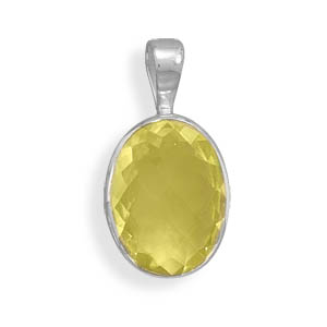 Design 22122: yellow lemon quartz pendants