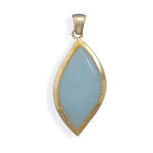 Design 22123: blue,yellow chalcedony pendants