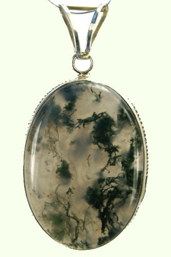 Design 9256: green,white moss agate pendants