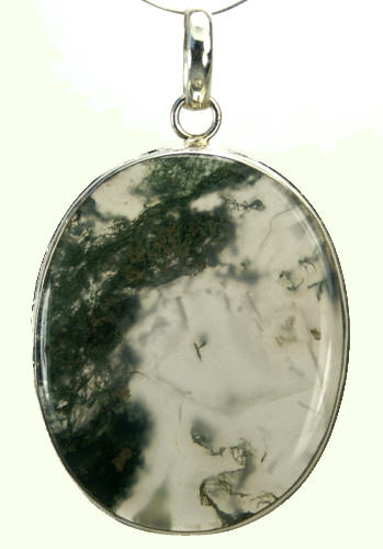 Design 9257: green,white moss agate pendants